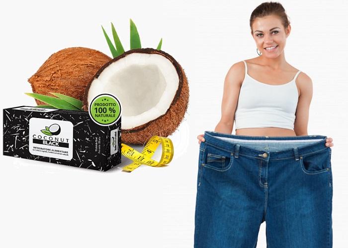 COCONUT BLACK per la perdita di peso: dimenticatevi del peso in eccesso!