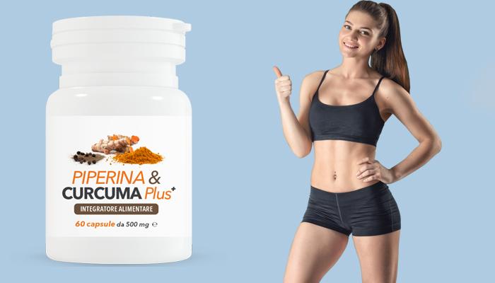 Piperina & Curcuma Plus: integratore naturale per il dimagrimento