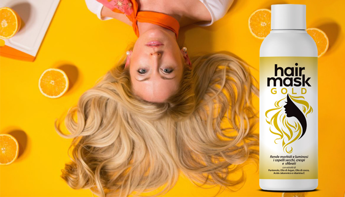 Hair Mask Gold per i capelli: estremamente efficace per restaurare i capelli danneggiati