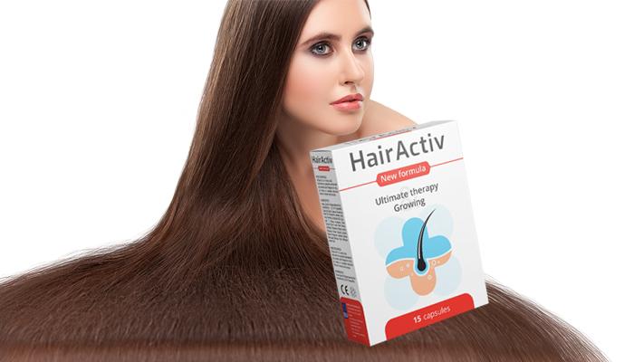 HairActiv per la crescita di capelli e unghie: unghie sane, ciglia lunghe, belle sopracciglia e capelli folti