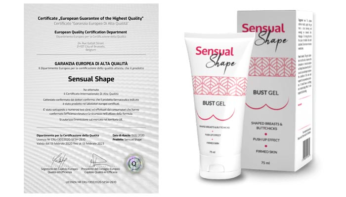 Sensual Shape per l'aumento del seno: ingrandisce e rassoda efficacemente il tuo seno!