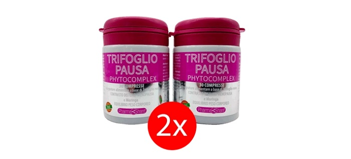Trifoglio Pausa contrasta i chili di troppo e le vampate durante la Menopausa!