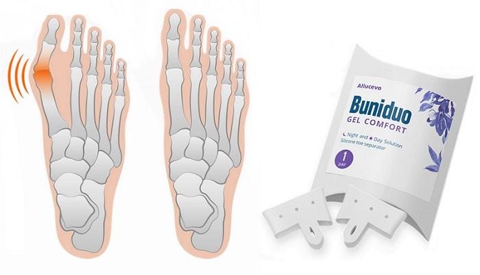 Buniduo Gel Comfort contro valgo: separatore per il piede contro l'alluce valgo con la tecnologia del silicone traspirante!
